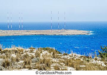 radio antennas at Cape Greco Cyprus - 25 may 2016Cape...