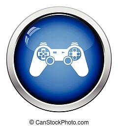 Gamepad icon Glossy button design Vector illustration