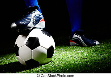 Soccer ball - Horizontal image of soccer ball and shoes