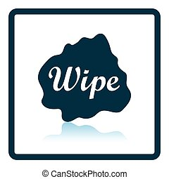 Wipe cloth icon. Shadow reflection design. Vector...