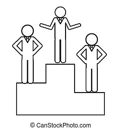 businessmen on podium icon