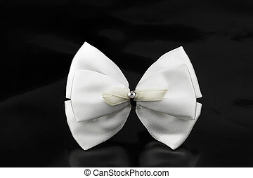 hair bow on black back ground