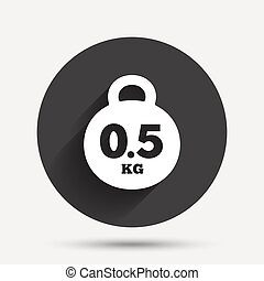 Weight sign icon 05 kilogram kg Mail weight - Weight sign...