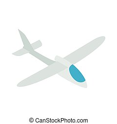 Grey plane icon, isometric 3d style - Grey plane icon in...