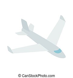 Big plane icon, isometric 3d style - Big plane icon in...