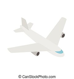 Plane icon, isometric 3d style - Plane icon in isometric 3d...