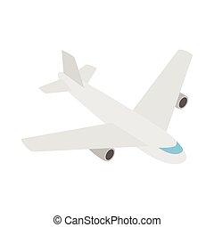 Plane icon, isometric 3d style