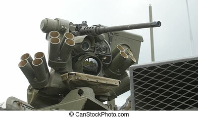 Close up view of the turret, armaments and gun - Close up...