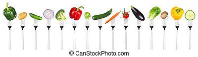 grönsaken, sätta, smaklig, Vägskäl