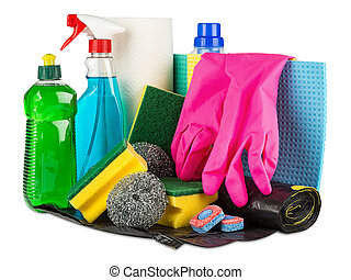 household cleaners - various household cleaners and products...