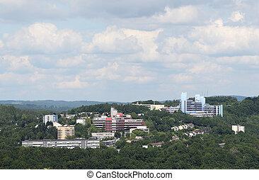 Północ,  Rhine, uniwersytet,  Westphalia,  siegen, Niemcy
