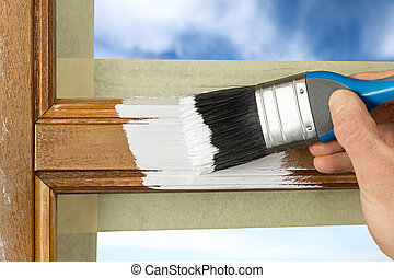 painting window frame - pinting a window frame with white...