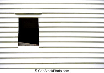 Windmill detail - weatherboarding and windows in Victorian...