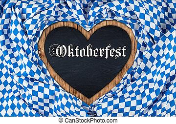 oktoberfest heart blackboard - oktoberfest heart shaped...