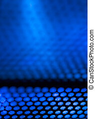 blue metal background with light reflection
