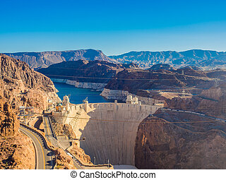Hoover Dam in Nevada, USA . - Hoover Dam in Nevada, USA