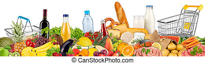 variation of food and beverages - fresh variation of food...
