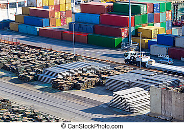 container port with metal storage