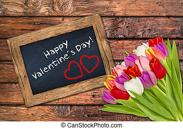 Valentineacute;s Day - valentine´s day blackboard with...
