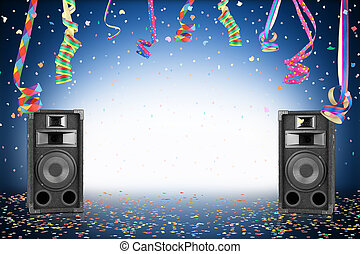 party background - Party background with confetti, streamer...