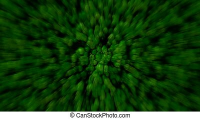 abstract green cells and virus