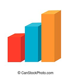 Statistics graphic isolated flat icon, vector illustration....