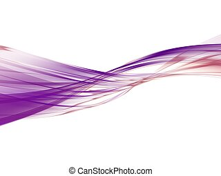purple waves - 3d rendered illustration of an abstract...
