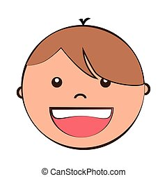 Little kids cartoon graphic design, vector illustration. -...
