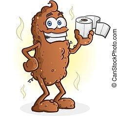 Poop Cartoon Character Toilet Paper