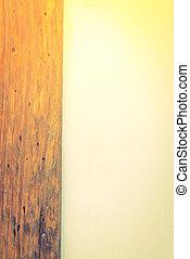 cemento, y, madera, pared, (, filtrado, imagen, procesado,...
