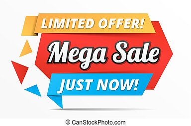 Mega Sale Banner - Limited offer mega sale banner,...