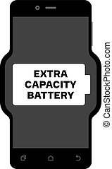 Smart phone with an extra capacity battery