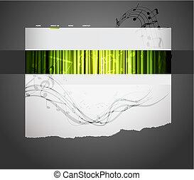 Musical website template.