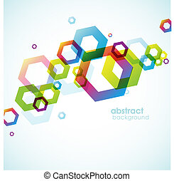 Abstract colored background with circles
