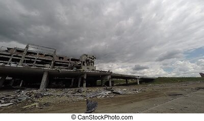 donetsk airport time lapse - donetsk airport timelapse with...