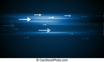 Abstract tech motion background with arrows - Abstract tech...