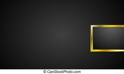 Blank golden frames abstract video animation - Blank golden...