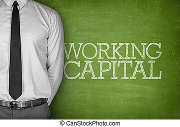 Working capital text on blackboard - Accounting concept on...