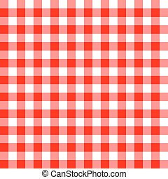Seamless red tablecloth pattern
