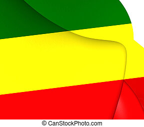 Republic of the Congo Flag. 3D Illustration.