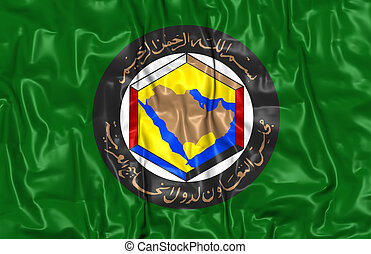 Cooperation Council for the Arab States of the Gulf Flag. 3D Illustration.