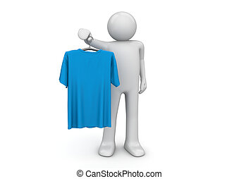 T-shirt - Lifestyle collection - 3d characters isolated on...
