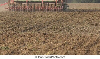 Complex seeder sower equipment cultivate sow crops in soil....