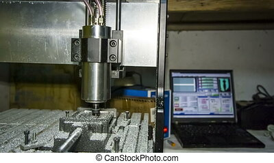 Lathe With Numerical Control Processing At Workshop - RAW...