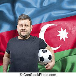 Proud football fan of Azerbaijan