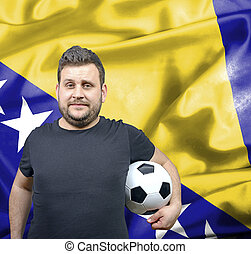 Proud football fan of Bosnia and Herzegovina
