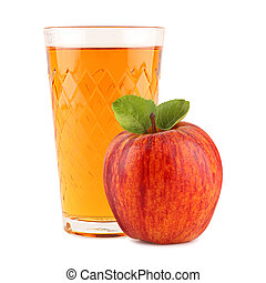 apple wine 3 - apple wine glass with apple in front of white...