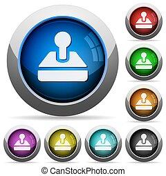 Joystick button set - Set of round glossy Joystick buttons...