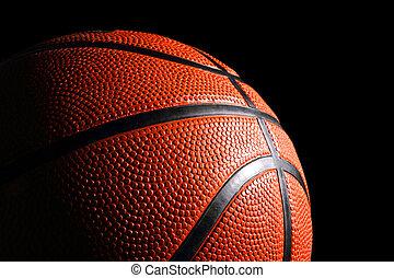 basketball 1 - baskettball vor schwarzem Hintergrund