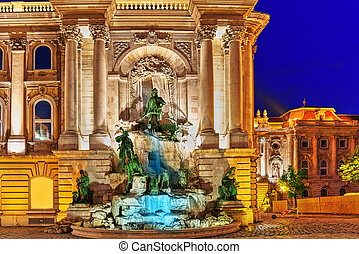 Matthias Fountain-is a monumental fountain group in the...